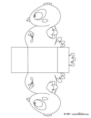 Baby chick Basket coloring page