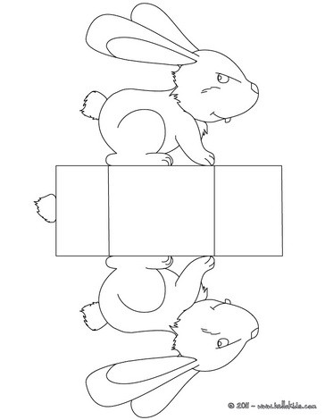 Bunny Basket coloring page