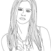 Avril Lavigne portrait coloring page - Coloring page - FAMOUS PEOPLE Coloring pages - AVRIL LAVIGNE coloring pages