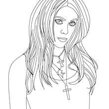 Shakira singer coloring page