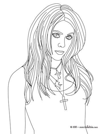 Shakira singer coloring pages - Hellokids.com