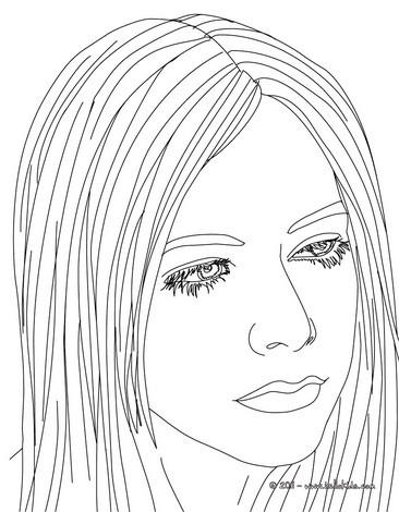 Avril Lavigne Coloring Pages Hellokids Com