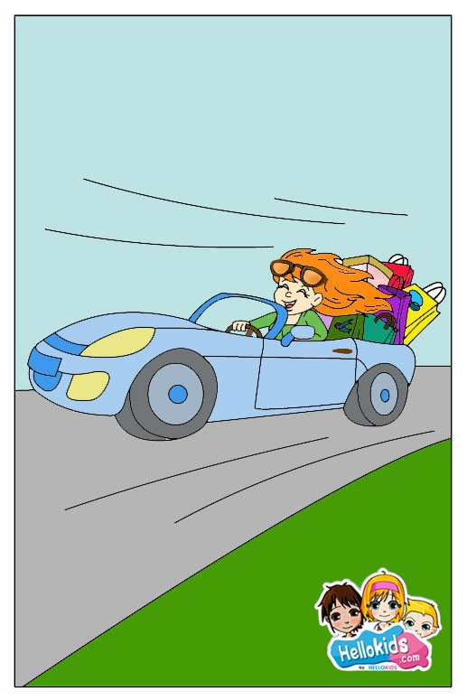 Open top Car drawing