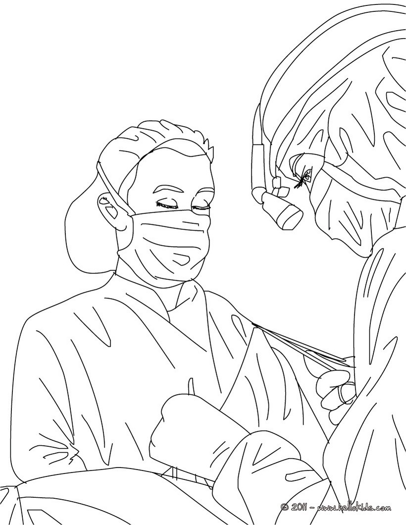 surgeon coloring page