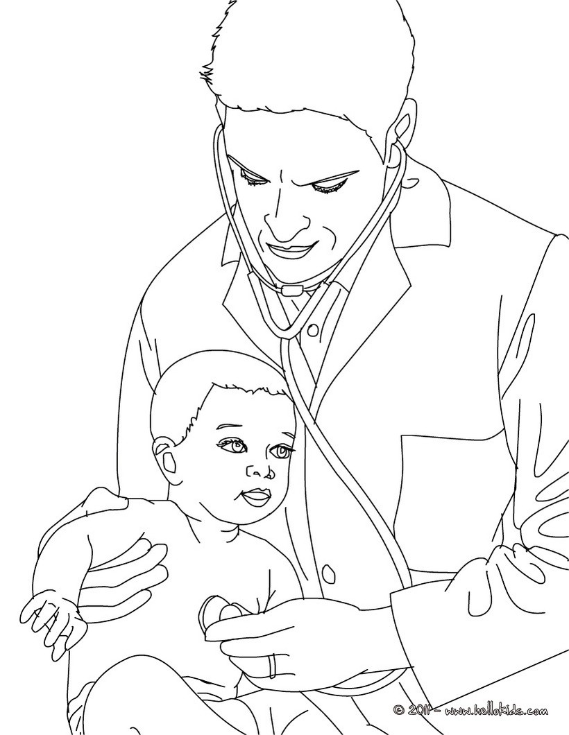 Paediatrician coloring page