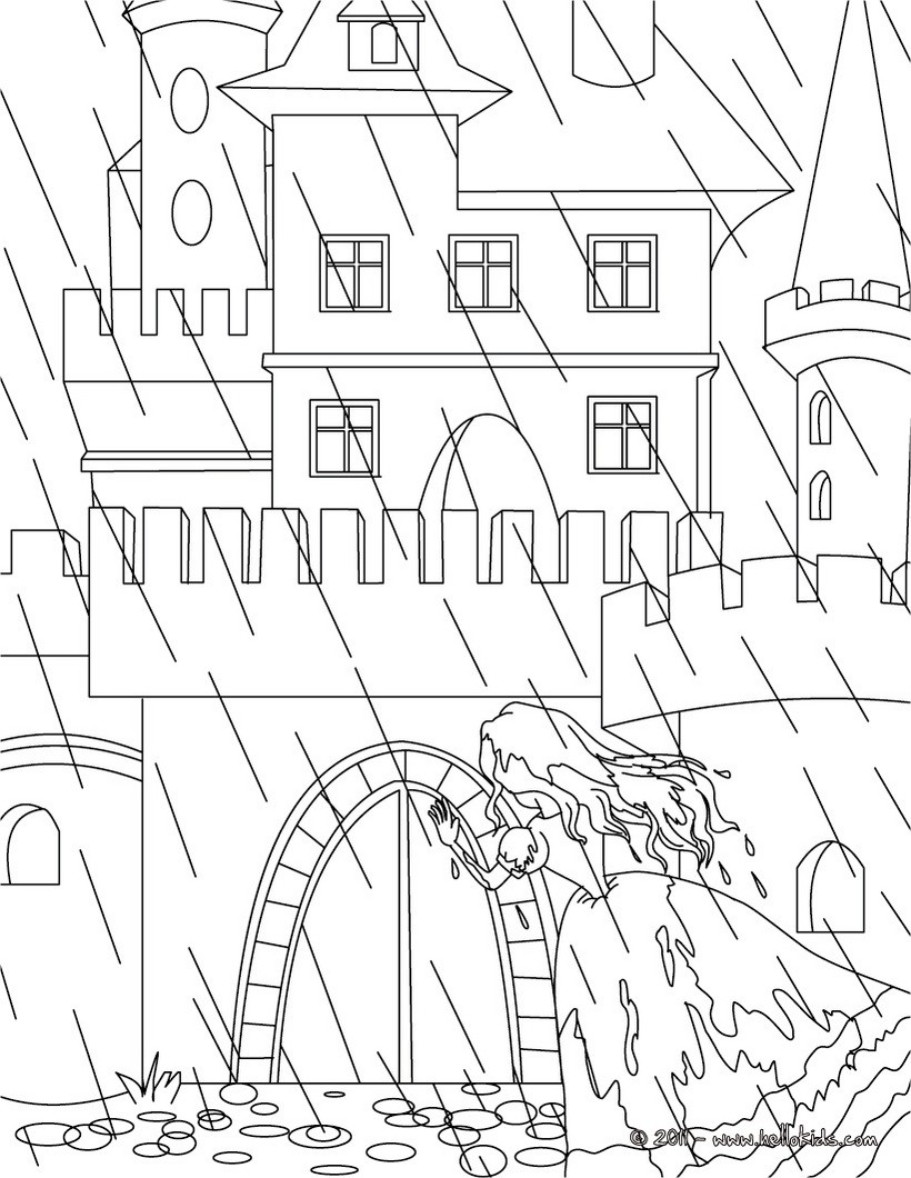 the princess and the pea tale coloring pages  hellokids
