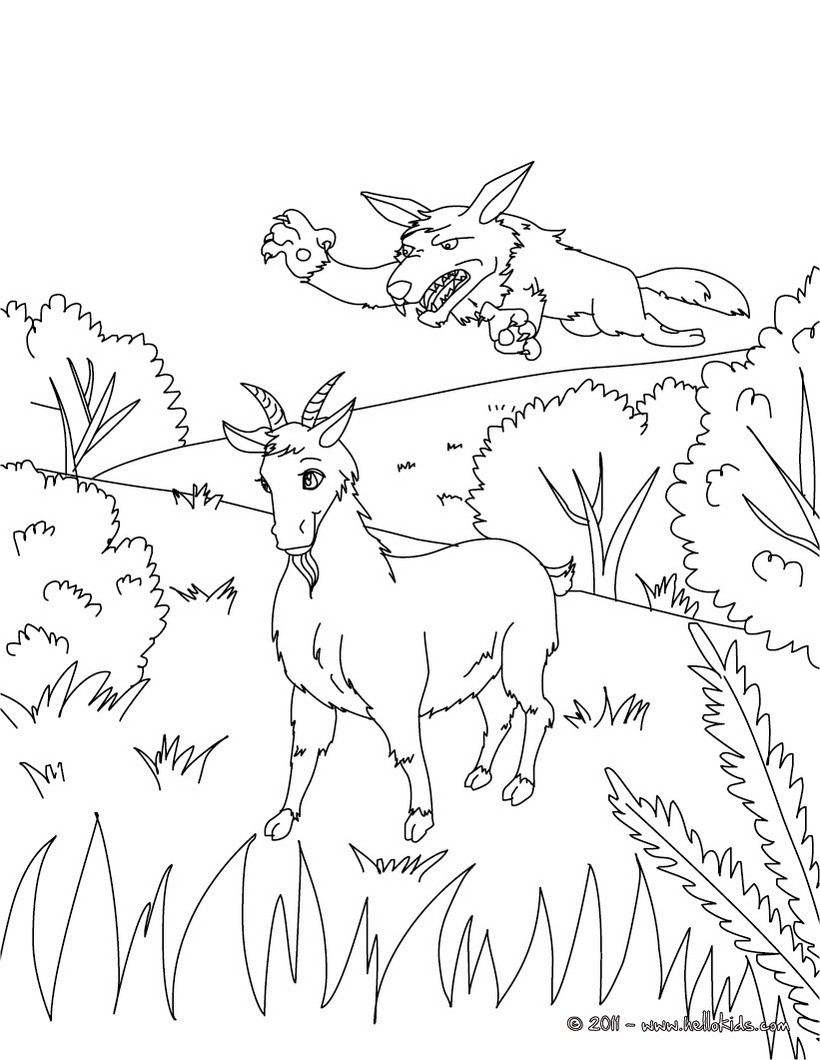 The Little Brave Goat of M. Seguin coloring page