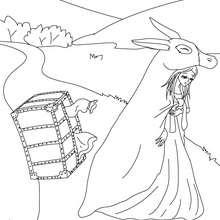 DONKEYSKIN fairy tale coloring page