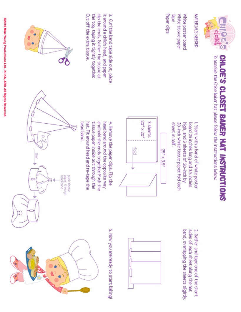 Make a baker Hat with Chloe - Chloe's Closet Craft Activities