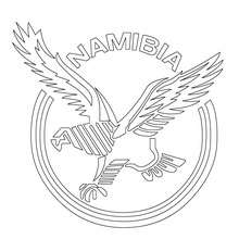Namibia Rugby team coloring page - Coloring page - SPORT coloring pages - RUGBY coloring pages - RUGBY TEAMS coloring pages