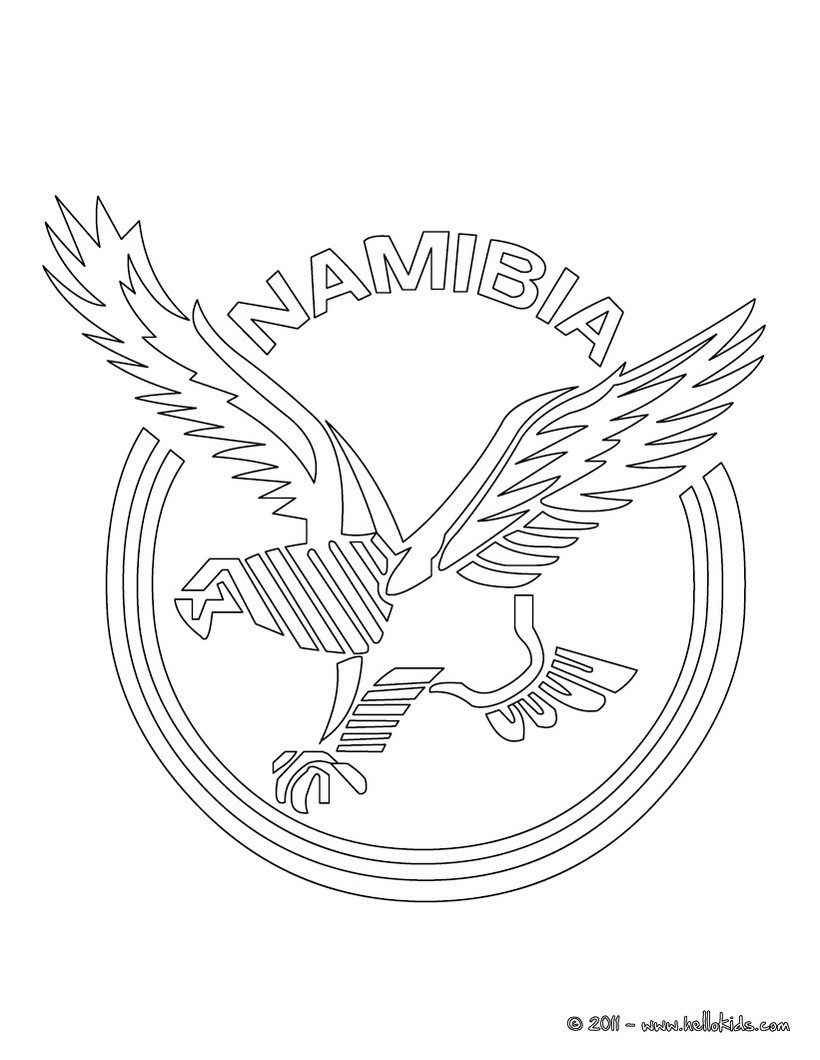 Namibia Rugby team coloring page