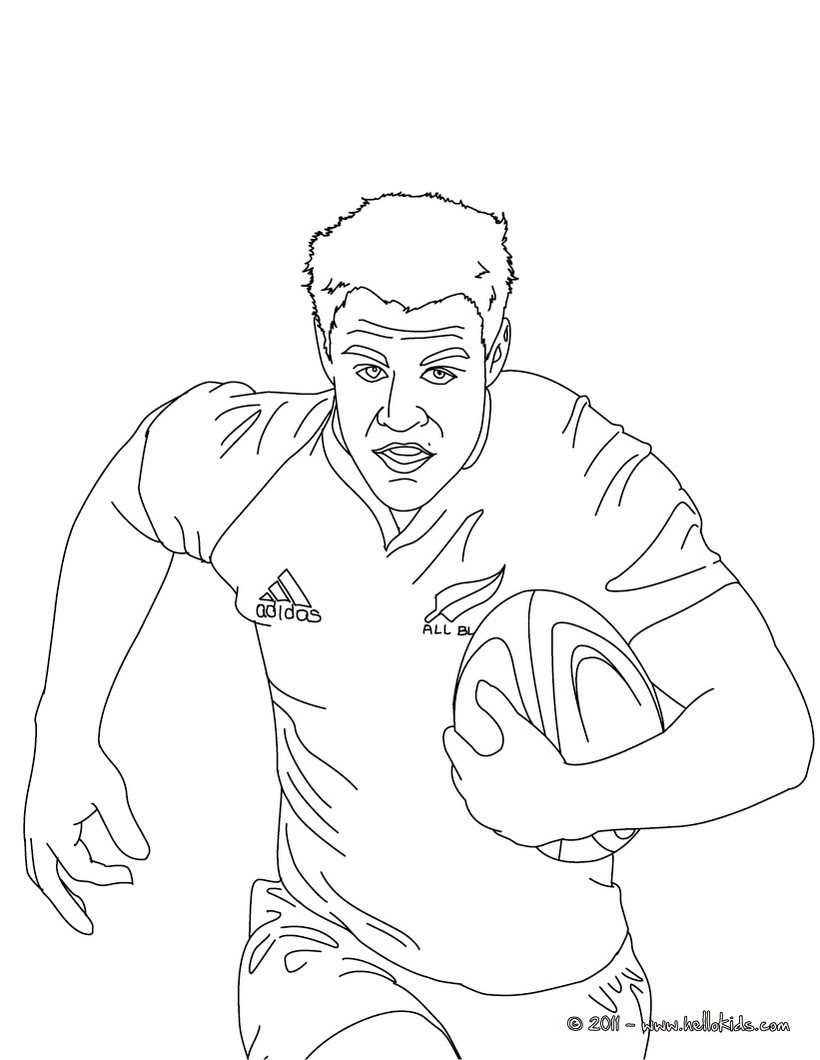 dan carter rugby player coloring pages hellokids com