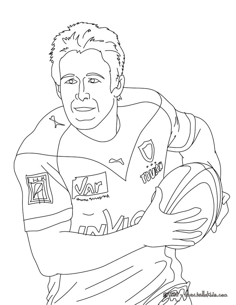 JOHNNY WILKINSON rugby player coloring page