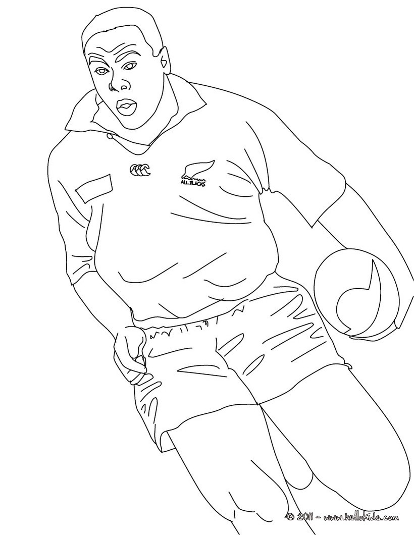 JONAH LOMU rugby player coloring page