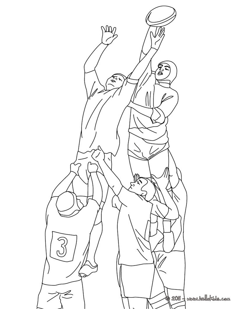 RUGBY TOUCH coloring page