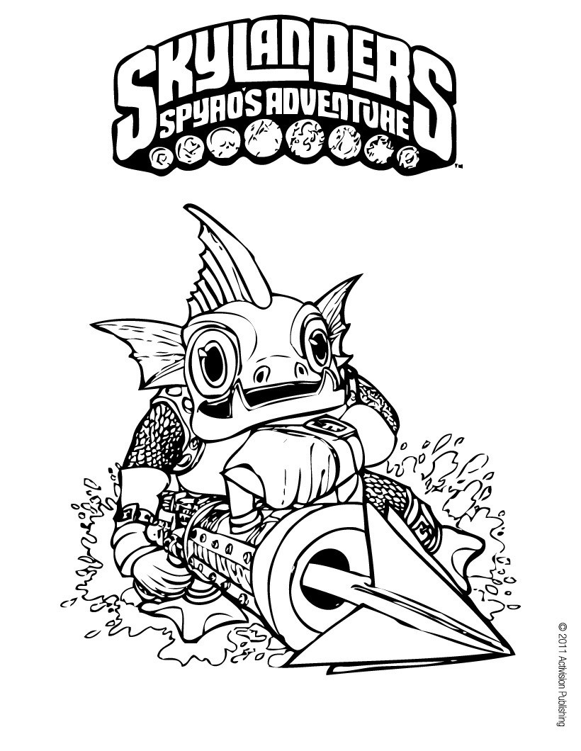 gill grunt coloring pages - photo#1
