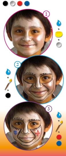 KNIGHT face painting for boy