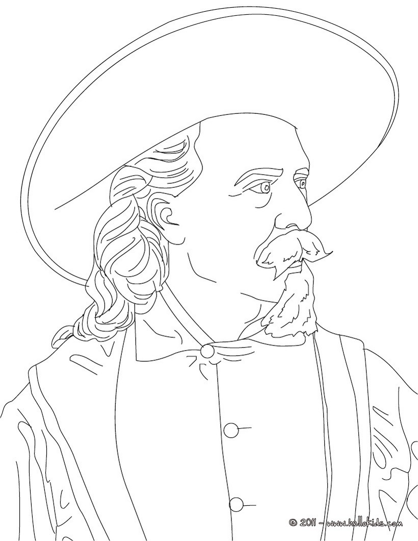 buffalo bill coloring page coloring pages hellokidscom - Buffalo Bills Helmet Coloring Page