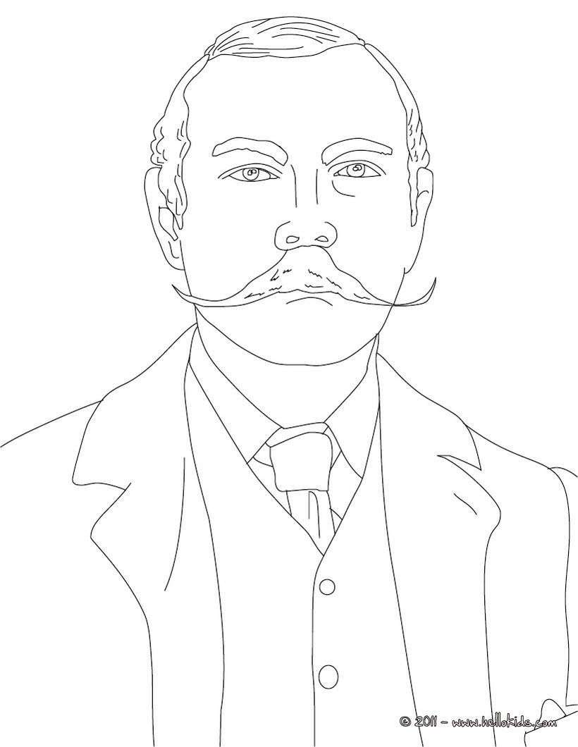 Conan Coloring Arthur Conan Doyle Coloring