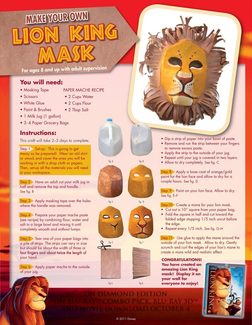 wild animals masks