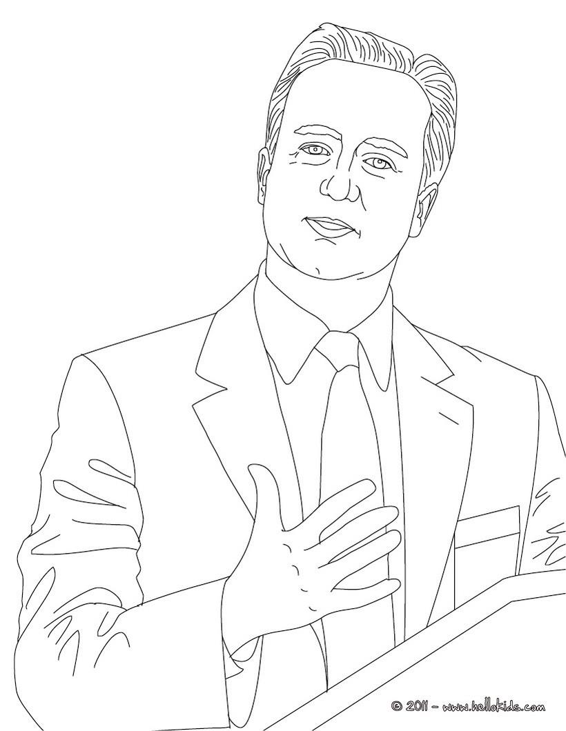 david cameron coloring page