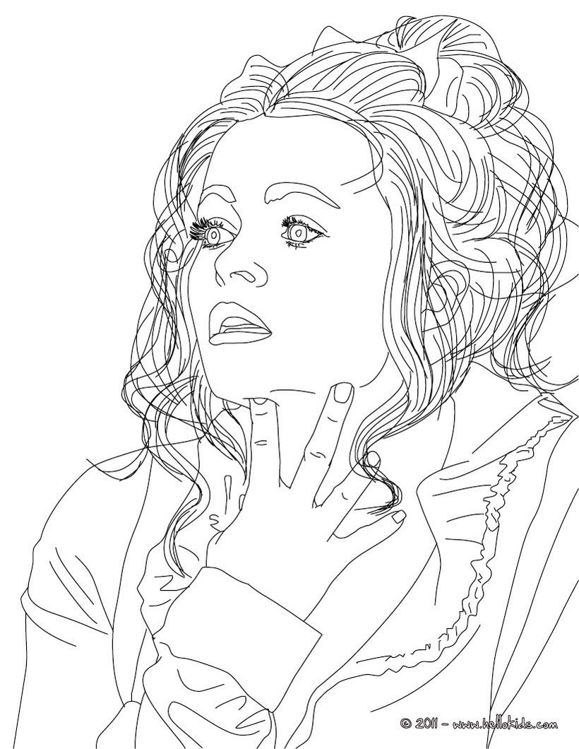 HELENA BONHAM CARTER coloring page
