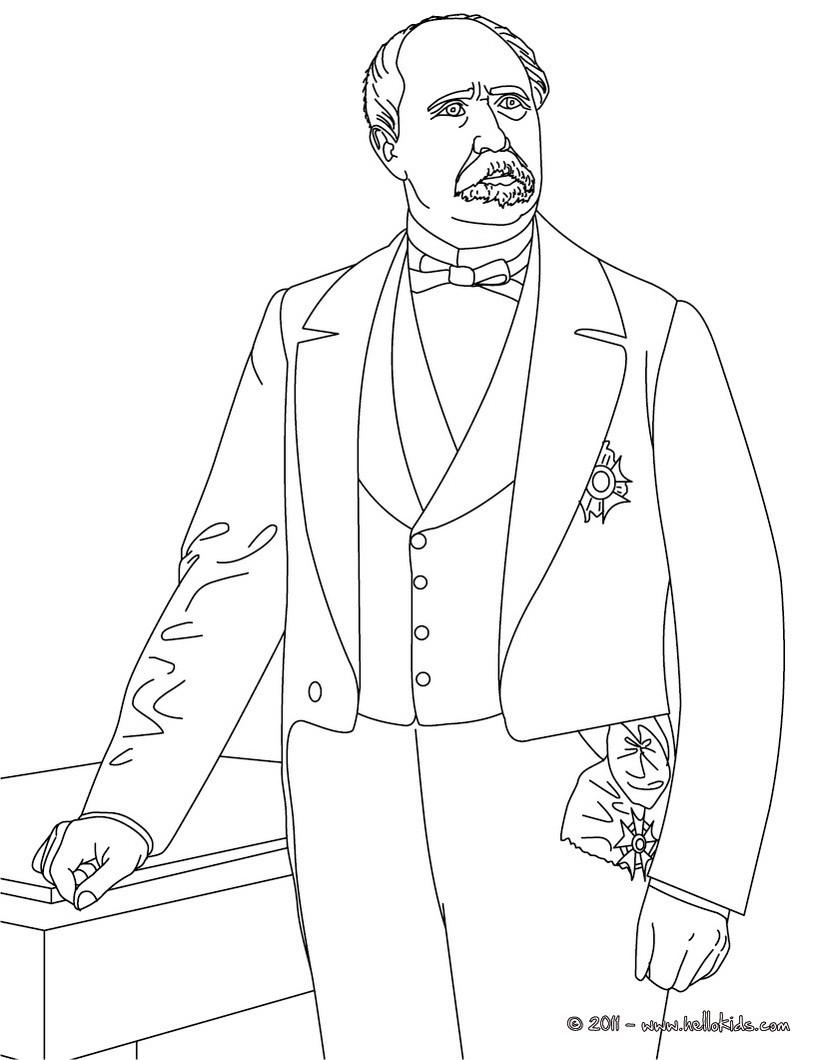 president patrice de mc mahon coloring pages hellokids com