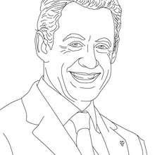 President NICOLAS SARKOZY coloring page