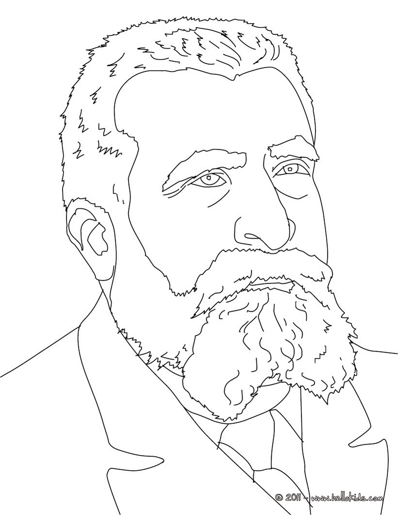 JEAN JAURES coloring page
