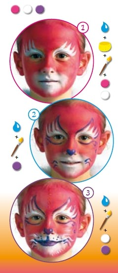 RED CAT face painting for children