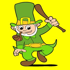 St Patricks Day Symbols LEPRECHAUN Puzzle