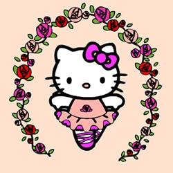 Hello Kitty Pilot Sliding Puzzle Ballerina Online