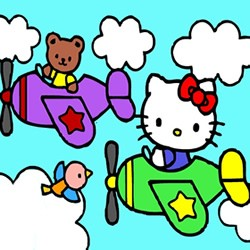 Hello Kitty Taxi Driver Sliding Puzzle Pilot Online