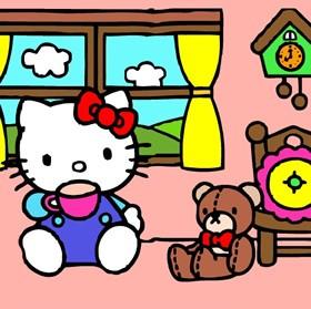 Hello Kitty Easy Puzzle Tea Time Online
