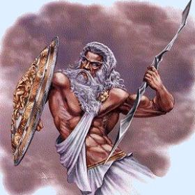 Greek God Zeus spacer ZEUS  the Greek King of