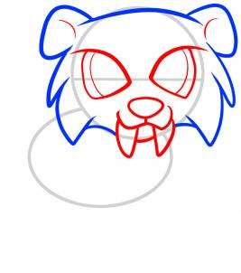 How To Draw How To Draw A Sabertooth For Kids Hellokids Com