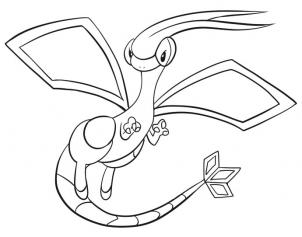 flygon coloring pages - photo#1