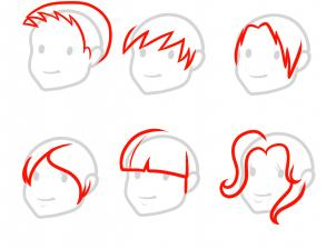 How To Draw How To Draw Hair For Kids Hellokids Com