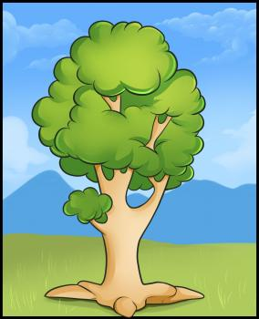 How to draw how to draw an easy tree - Hellokids.com