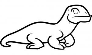 How To Draw How To Draw A Komodo Dragon For Kids Hellokids Com