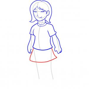 How to draw how to draw a girl for kids - Hellokids.com