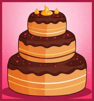 How to draw how to draw a cake - Hellokids.com