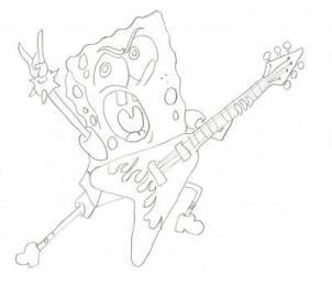 How To Draw Spongebob Rocker