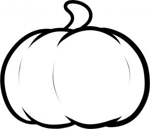 Once You Clean Up The Drawing Should Have Yourself A Really Nice Sketch Of Pumpkin That Can Be Proud Color It In And Even Make Smaller
