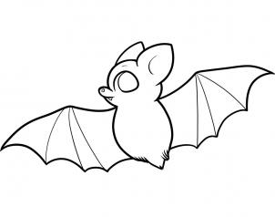 How to draw how to draw a bat for kids for How to draw a small bat