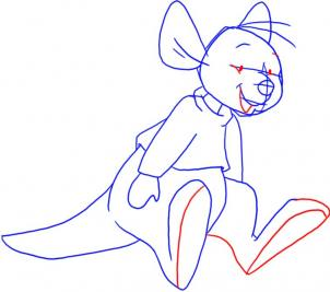Worksheet. How to draw how to draw roo from winnie the pooh  Hellokidscom