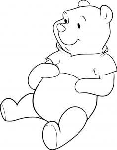 How to draw how to draw pooh bear  Hellokidscom