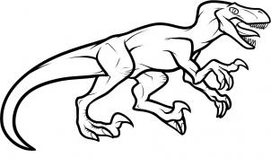 How to draw how to draw a velociraptor dinosaur for Utahraptor coloring page