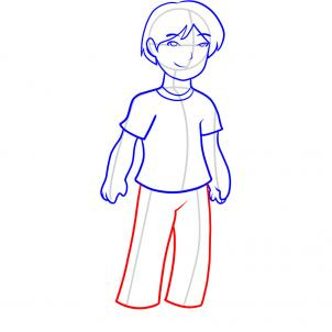 How To Draw How To Draw A Boy For Kids Hellokids Com