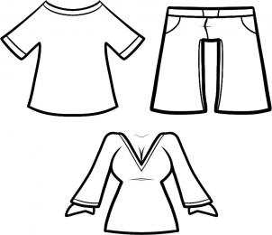 Kids Pants Drawing People - How to Draw Clothes for Kids